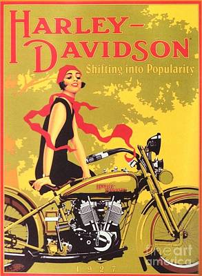 Painting - Harley Davidson 1927 Poster by Reproduction