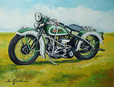 Painting - Harley Davidson 1930 by Luke Karcz