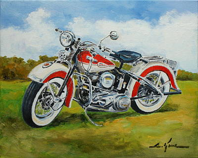 Painting - Harley Davidson 1943 by Luke Karcz