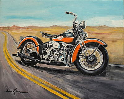 Painting - Harley Davidson 1946 by Luke Karcz