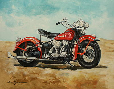 Painting - Harley Davidson 1947 by Luke Karcz