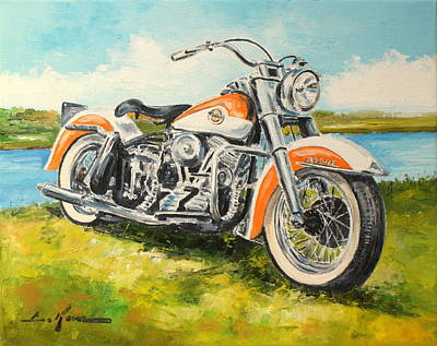 Painting - Harley Davidson 1958  by Luke Karcz