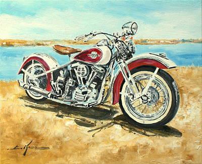 Harley Davidson 1960 Art Print