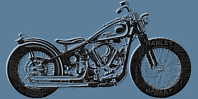 Harley-davidson And Words Original