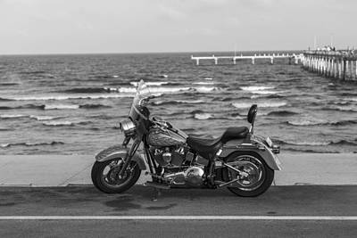 Photograph - Harley Davidson At Gulf Of Mexico  by John McGraw