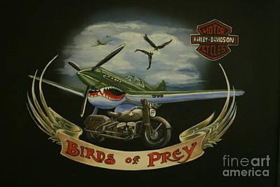 Motorcyle Painting - Harley Davidson Birds Of Prey by Richard John Holden RA