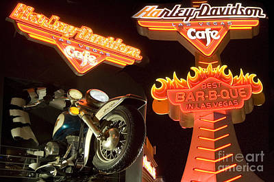 Harley Davidson Cafe Art Print by Bob Christopher