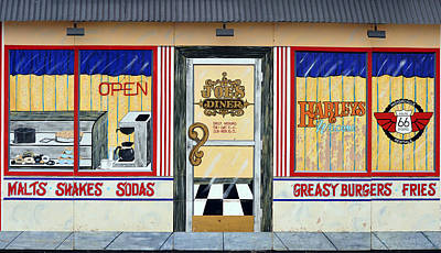 Harley Davidson Cafe Art Print