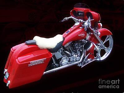 Photograph - Harley Davidson Custom by Scott B Bennett