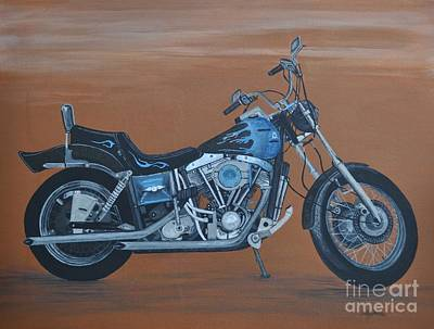 Harley Davidson Dyna Art Print by Sally Rice
