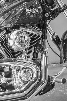 Photograph - Harley Davidson Engine And Tank From Side  by John McGraw