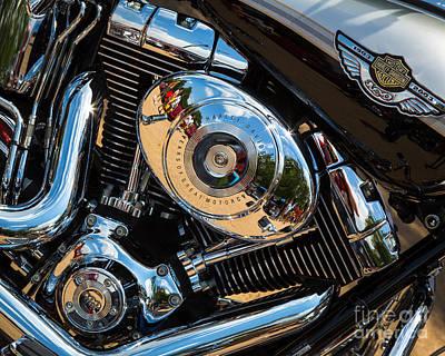 Photograph - Harley Davidson Engine by Inge Johnsson