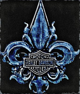 Harley Davidson Fleur De Lys Logo Art Print