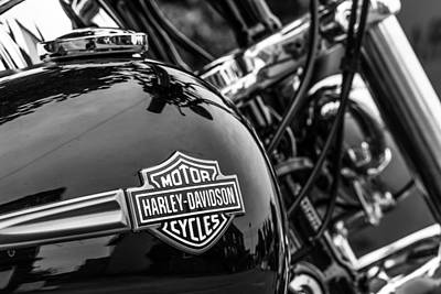 Art Print featuring the photograph Harley Davidson. by Gary Gillette