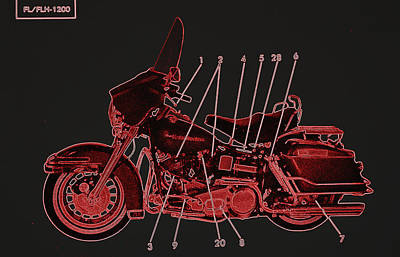 Photograph - Harley Davidson II by Diane montana Jansson