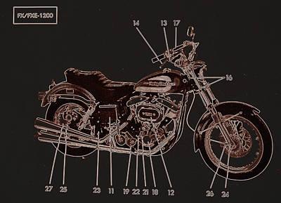 Photograph - Harley Davidson IIi by Diane montana Jansson