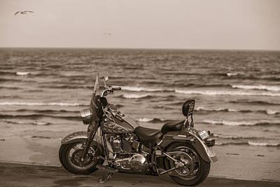 Photograph - Harley Davidson In Galveston Tx  by John McGraw