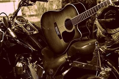 Harley Davidson Made Into 1960ish Art Print by Karen Kersey