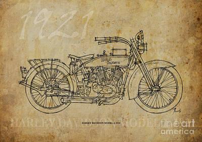 Harley Davidson Model J 1921 Original by Pablo Franchi