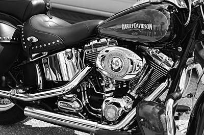 Select Photograph - Harley Davidson Monochrome by Laura Fasulo