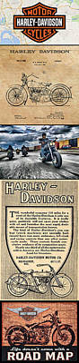 Digital Art - Harley-davidson Montage by Photographic Art by Russel Ray Photos