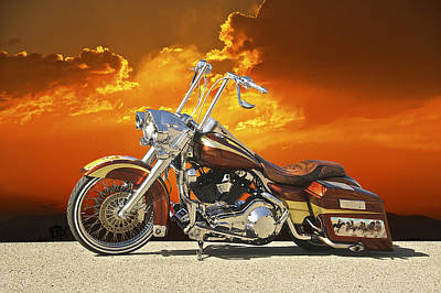 Harley Davidson Outlaw Bagger II Art Print