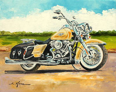 Painting - Harley Davidson Road King by Luke Karcz