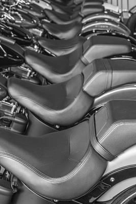 Photograph - Harley Davidson Seats  by John McGraw