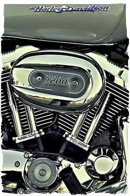 Photograph - Harley Davidson Sportster 1200 II by David Patterson
