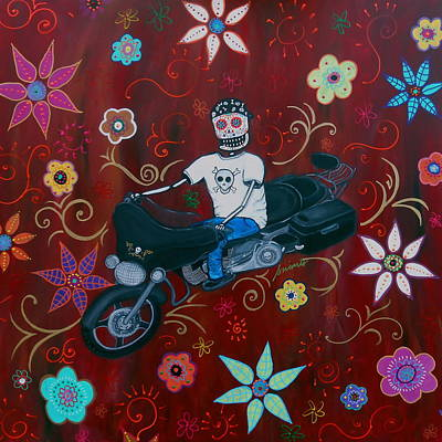 Painting - Harley Davidson Street Glide Bike by Pristine Cartera Turkus
