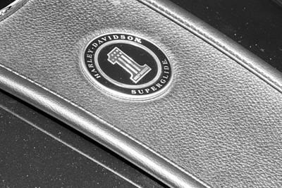 Photograph - Harley Davidson Superglide Tank by John McGraw