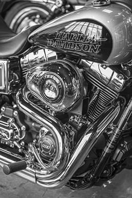 Photograph - Harley Davidson Tank And Engine  by John McGraw