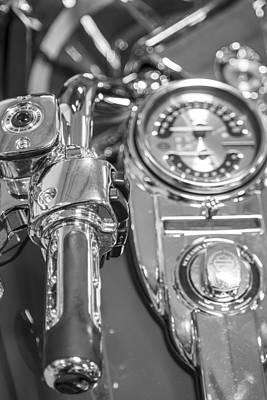 Photograph - Harley Davidson Throttle And Speedometer  by John McGraw