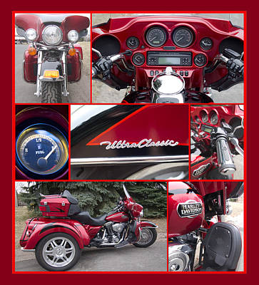 Photograph - Harley Davidson Ultra Classic Trike by Patti Deters