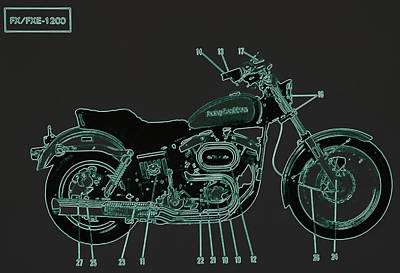 Photograph - Harley Davidson V by Diane montana Jansson