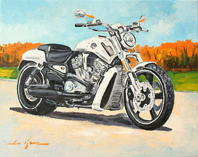 Painting - Harley Davidson V Rod by Luke Karcz