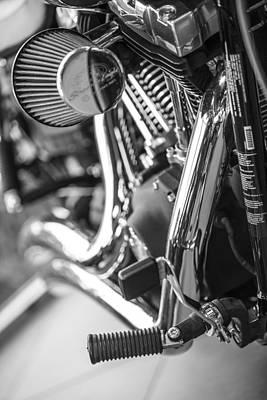 Photograph - Harley Engine And Kickstand by John McGraw