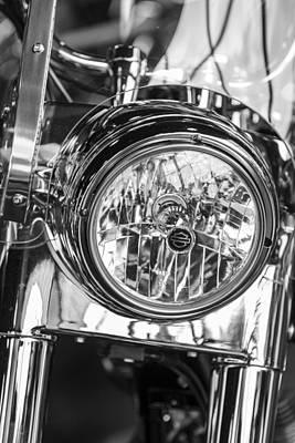 Photograph - Harley Front Headlight  by John McGraw