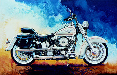 Sports Painting - Harley Hog II by Hanne Lore Koehler