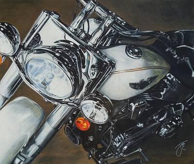 Headlight Mixed Media - Harley  by Jack Ebbert