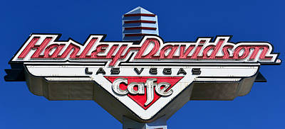 Photograph - Harley Las Vegas Pano by David Lee Thompson