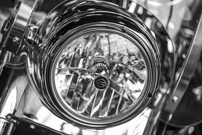 Photograph - Harley Light Close Up by John McGraw