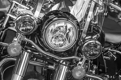 Photograph - Harley Lights  by John McGraw