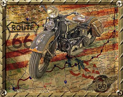 Harley On 66 Art Print