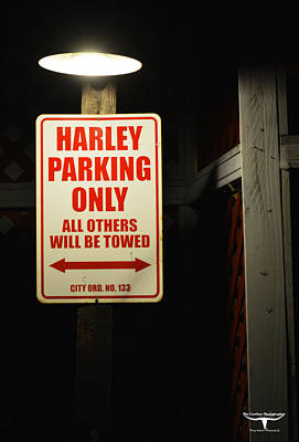 Harley Parking Only Art Print