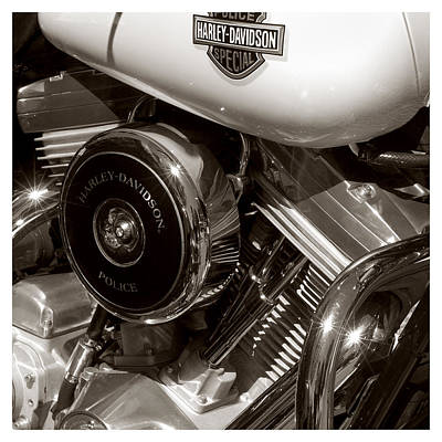 Harley Police Special Print by Jeff Leland