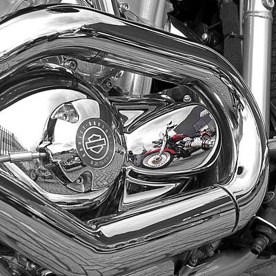 Photograph - Harley Reflections by Gill Billington