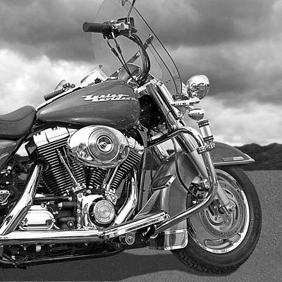Photograph - Harley Road King Custom by Gill Billington