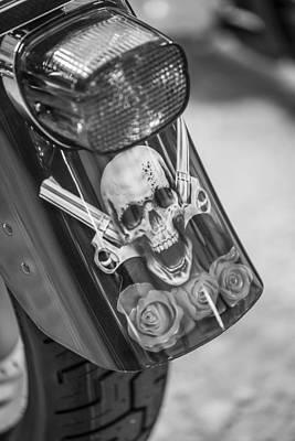 Harley Skull And Taillight  Art Print by John McGraw
