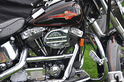 Photograph - Harley Skullhead by Graham Hawcroft pixsellpix